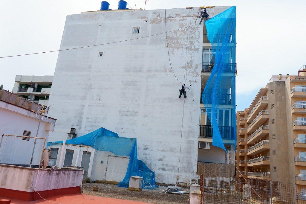 Consejos de seguridad para trabajos de rehabilitación de fachadas