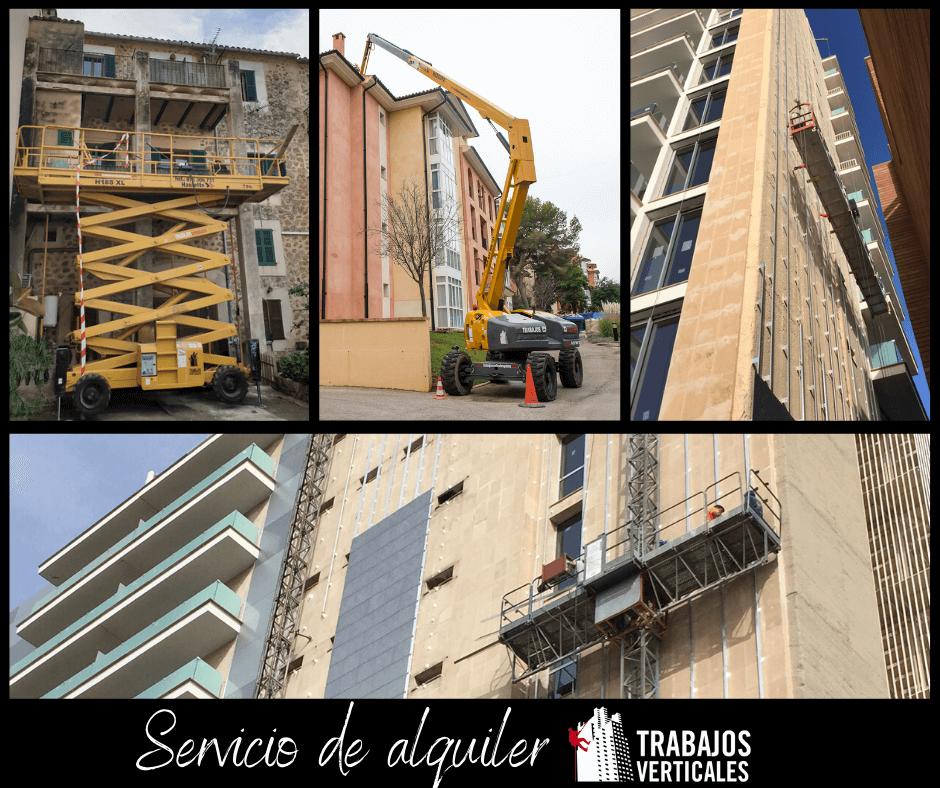 Servicio de alquiler de andamios y elevadores en Palma de Mallorca